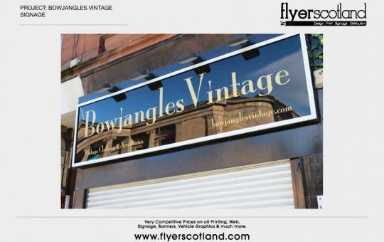 Bowjangles Signage