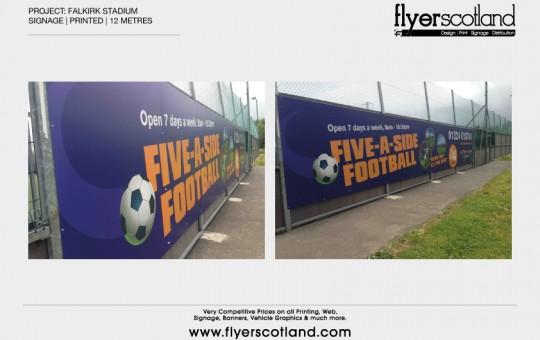 Falkirk Football Stadium Sign