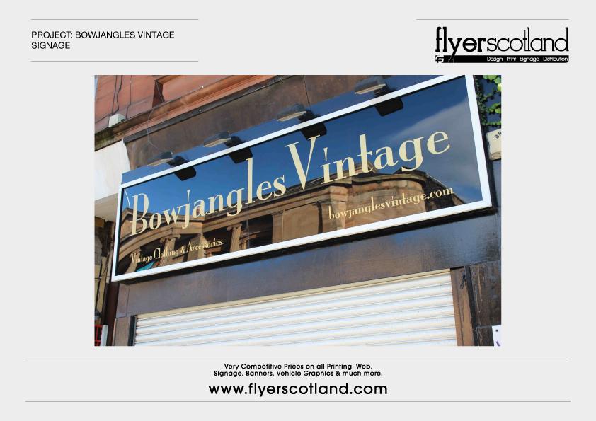 Acrylic Signage Glasgow Framed